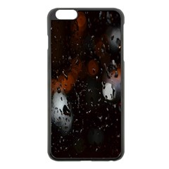 Lights And Drops While On The Road Apple Iphone 6 Plus/6s Plus Black Enamel Case