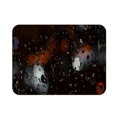 Lights And Drops While On The Road Double Sided Flano Blanket (mini)