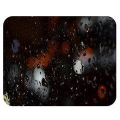 Lights And Drops While On The Road Double Sided Flano Blanket (medium)