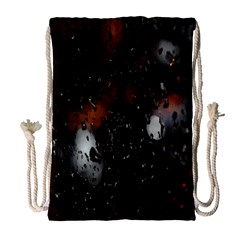 Lights And Drops While On The Road Drawstring Bag (large)