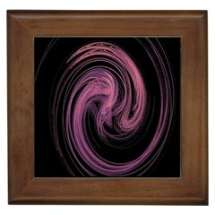 A Pink Purple Swirl Fractal And Flame Style Framed Tiles
