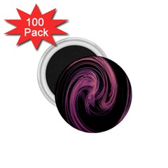 A Pink Purple Swirl Fractal And Flame Style 1 75  Magnets (100 Pack)