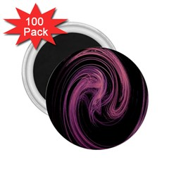 A Pink Purple Swirl Fractal And Flame Style 2 25  Magnets (100 Pack)