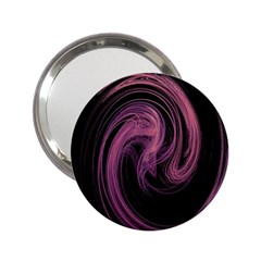A Pink Purple Swirl Fractal And Flame Style 2 25  Handbag Mirrors