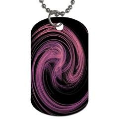 A Pink Purple Swirl Fractal And Flame Style Dog Tag (one Side)