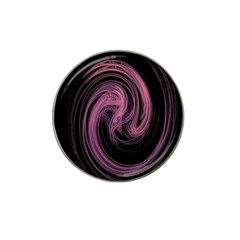 A Pink Purple Swirl Fractal And Flame Style Hat Clip Ball Marker