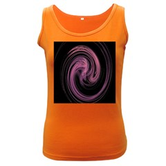 A Pink Purple Swirl Fractal And Flame Style Women s Dark Tank Top