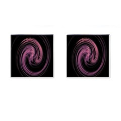 A Pink Purple Swirl Fractal And Flame Style Cufflinks (square)