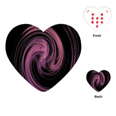A Pink Purple Swirl Fractal And Flame Style Playing Cards (Heart)