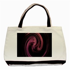 A Pink Purple Swirl Fractal And Flame Style Basic Tote Bag