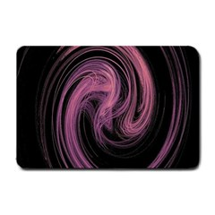 A Pink Purple Swirl Fractal And Flame Style Small Doormat