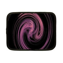 A Pink Purple Swirl Fractal And Flame Style Netbook Case (small)