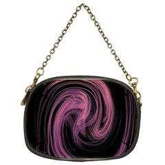 A Pink Purple Swirl Fractal And Flame Style Chain Purses (one Side)