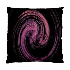 A Pink Purple Swirl Fractal And Flame Style Standard Cushion Case (one Side)