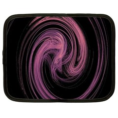 A Pink Purple Swirl Fractal And Flame Style Netbook Case (xxl)