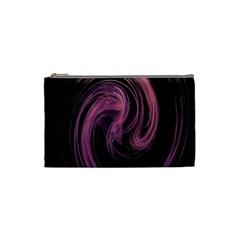 A Pink Purple Swirl Fractal And Flame Style Cosmetic Bag (small)