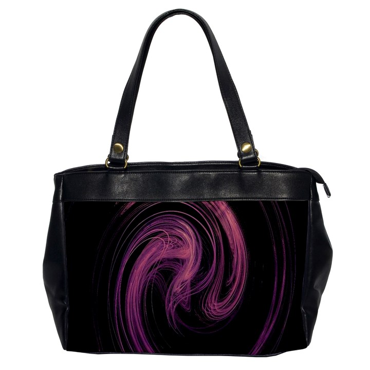 A Pink Purple Swirl Fractal And Flame Style Office Handbags