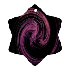 A Pink Purple Swirl Fractal And Flame Style Ornament (snowflake)