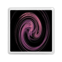 A Pink Purple Swirl Fractal And Flame Style Memory Card Reader (square)