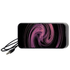 A Pink Purple Swirl Fractal And Flame Style Portable Speaker (black)