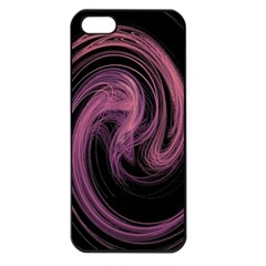 A Pink Purple Swirl Fractal And Flame Style Apple iPhone 5 Seamless Case (Black)