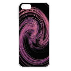 A Pink Purple Swirl Fractal And Flame Style Apple iPhone 5 Seamless Case (White)