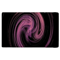 A Pink Purple Swirl Fractal And Flame Style Apple iPad 2 Flip Case