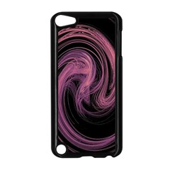 A Pink Purple Swirl Fractal And Flame Style Apple Ipod Touch 5 Case (black)