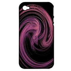A Pink Purple Swirl Fractal And Flame Style Apple iPhone 4/4S Hardshell Case (PC+Silicone)