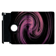 A Pink Purple Swirl Fractal And Flame Style Apple iPad 2 Flip 360 Case