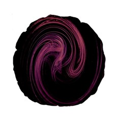 A Pink Purple Swirl Fractal And Flame Style Standard 15  Premium Round Cushions