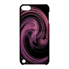 A Pink Purple Swirl Fractal And Flame Style Apple iPod Touch 5 Hardshell Case with Stand