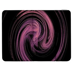 A Pink Purple Swirl Fractal And Flame Style Samsung Galaxy Tab 7  P1000 Flip Case