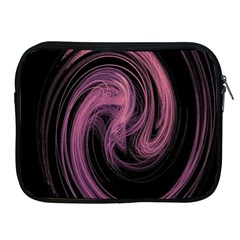 A Pink Purple Swirl Fractal And Flame Style Apple iPad 2/3/4 Zipper Cases