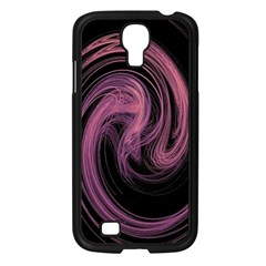 A Pink Purple Swirl Fractal And Flame Style Samsung Galaxy S4 I9500/ I9505 Case (Black)