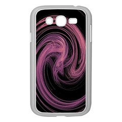 A Pink Purple Swirl Fractal And Flame Style Samsung Galaxy Grand DUOS I9082 Case (White)