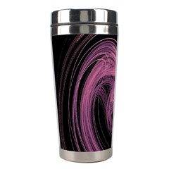 A Pink Purple Swirl Fractal And Flame Style Stainless Steel Travel Tumblers