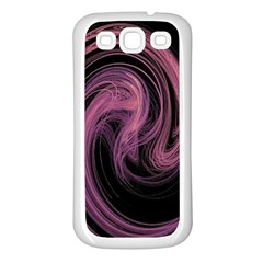 A Pink Purple Swirl Fractal And Flame Style Samsung Galaxy S3 Back Case (white)