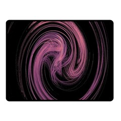 A Pink Purple Swirl Fractal And Flame Style Double Sided Fleece Blanket (Small)