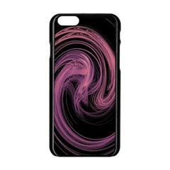 A Pink Purple Swirl Fractal And Flame Style Apple Iphone 6/6s Black Enamel Case
