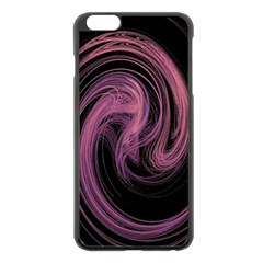 A Pink Purple Swirl Fractal And Flame Style Apple Iphone 6 Plus/6s Plus Black Enamel Case