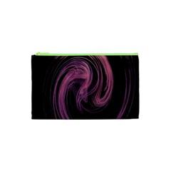 A Pink Purple Swirl Fractal And Flame Style Cosmetic Bag (XS)