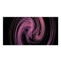 A Pink Purple Swirl Fractal And Flame Style Satin Shawl
