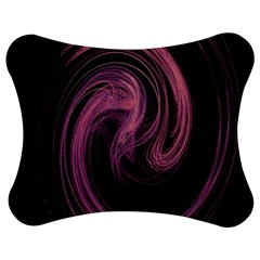 A Pink Purple Swirl Fractal And Flame Style Jigsaw Puzzle Photo Stand (bow)