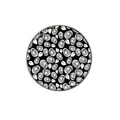 Floral pattern Hat Clip Ball Marker (4 pack)