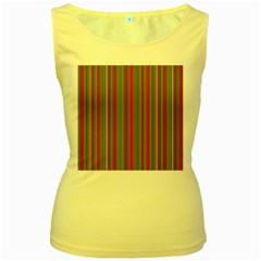 Lines Women s Yellow Tank Top
