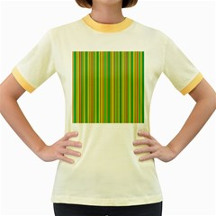 Lines Women s Fitted Ringer T-Shirts