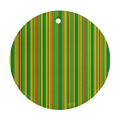 Lines Round Ornament (Two Sides)