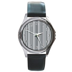 Lines Round Metal Watch