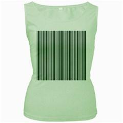 Lines Women s Green Tank Top